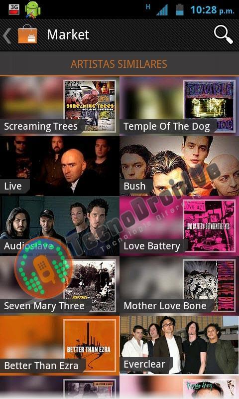Slik skal Google Music-delen av Android Market se ut.