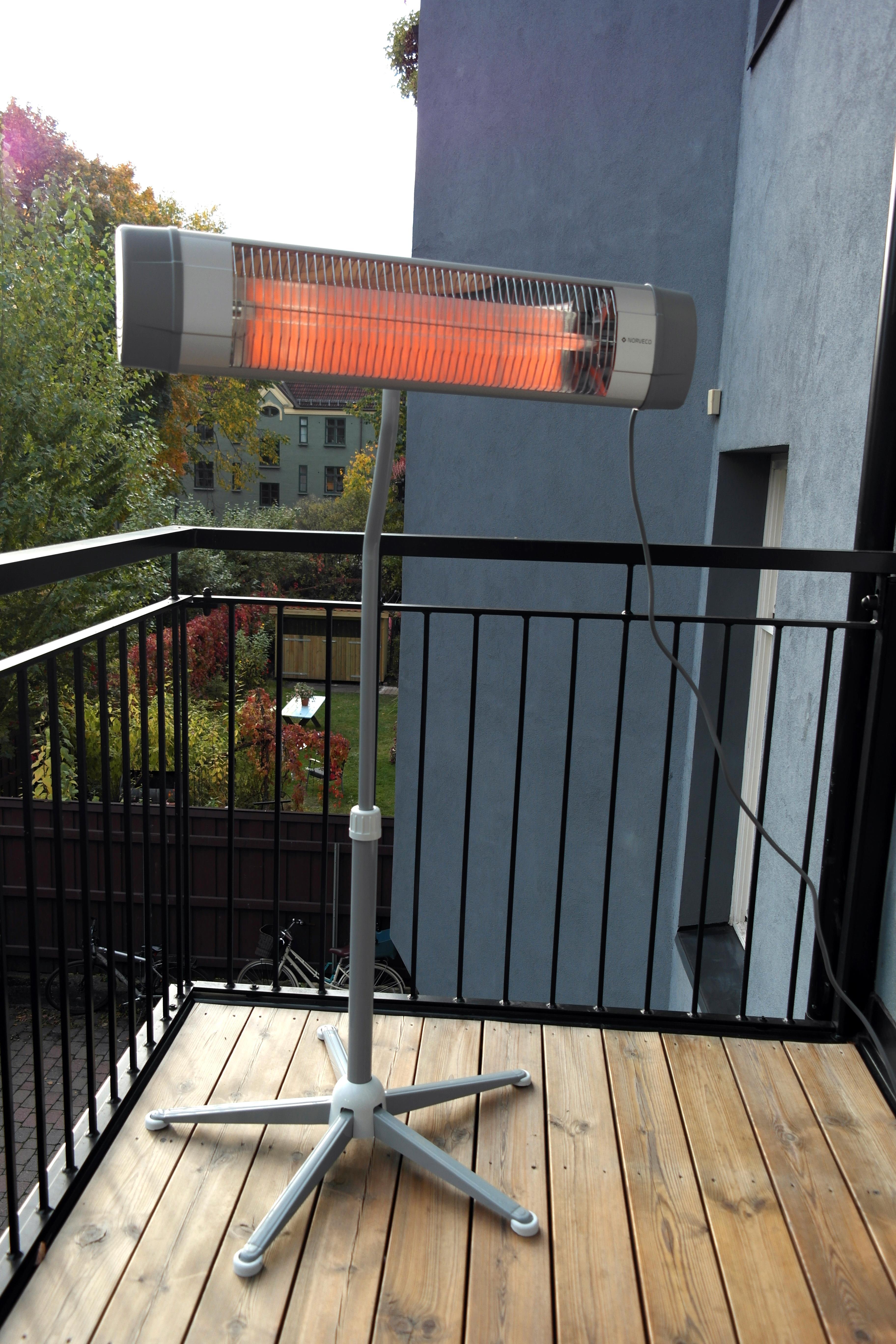 Norveco-varmeren kommer med et smart og praktisk stativ.