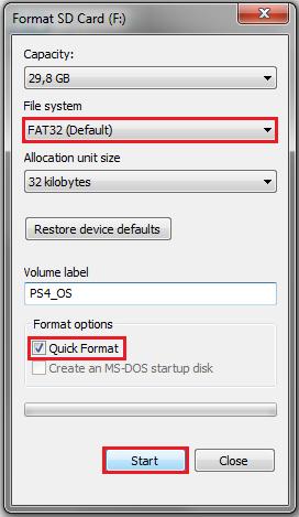 Høyreklikk på minnepinnen i Datamaskin, og velg Formater.