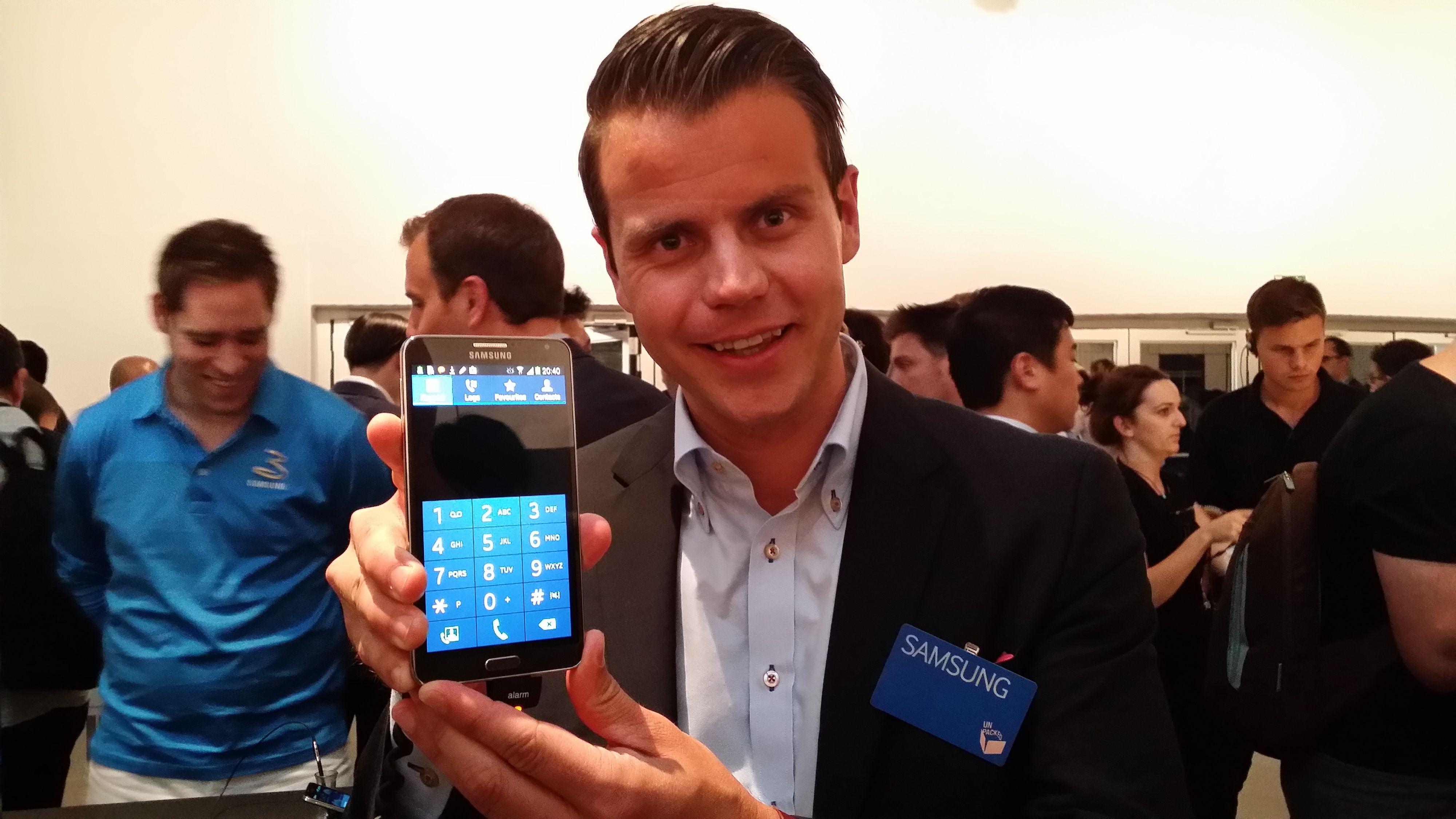 Samsungs Tor Slørdal fotografert med kameraet på Galaxy Note 3. Foto: Espen Irwing Swang, Amobil.no