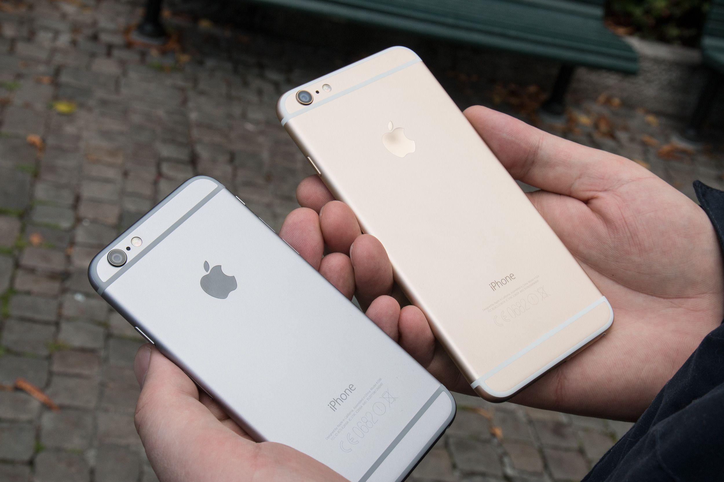 iPhone 6 Plus er vesentlig større enn den vanlige iPhone 6-utgaven.Foto: Jørgen Elton Nilsen, Tek.no