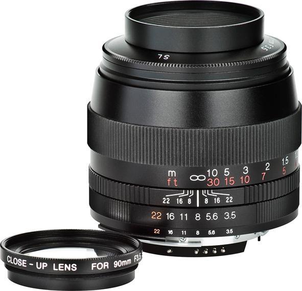SOLID OG MANUELT: Voigtländers nye APO-Lanthat 90mm F3.5 SL II kan nå fås til både Nikon, Canon og Pentax.