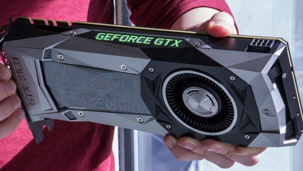 GTX 1080 Ti ventes å legge seg ytelsesmessig mellom avbildede GTX 1080 og Nvidias toppkort, Titan X.