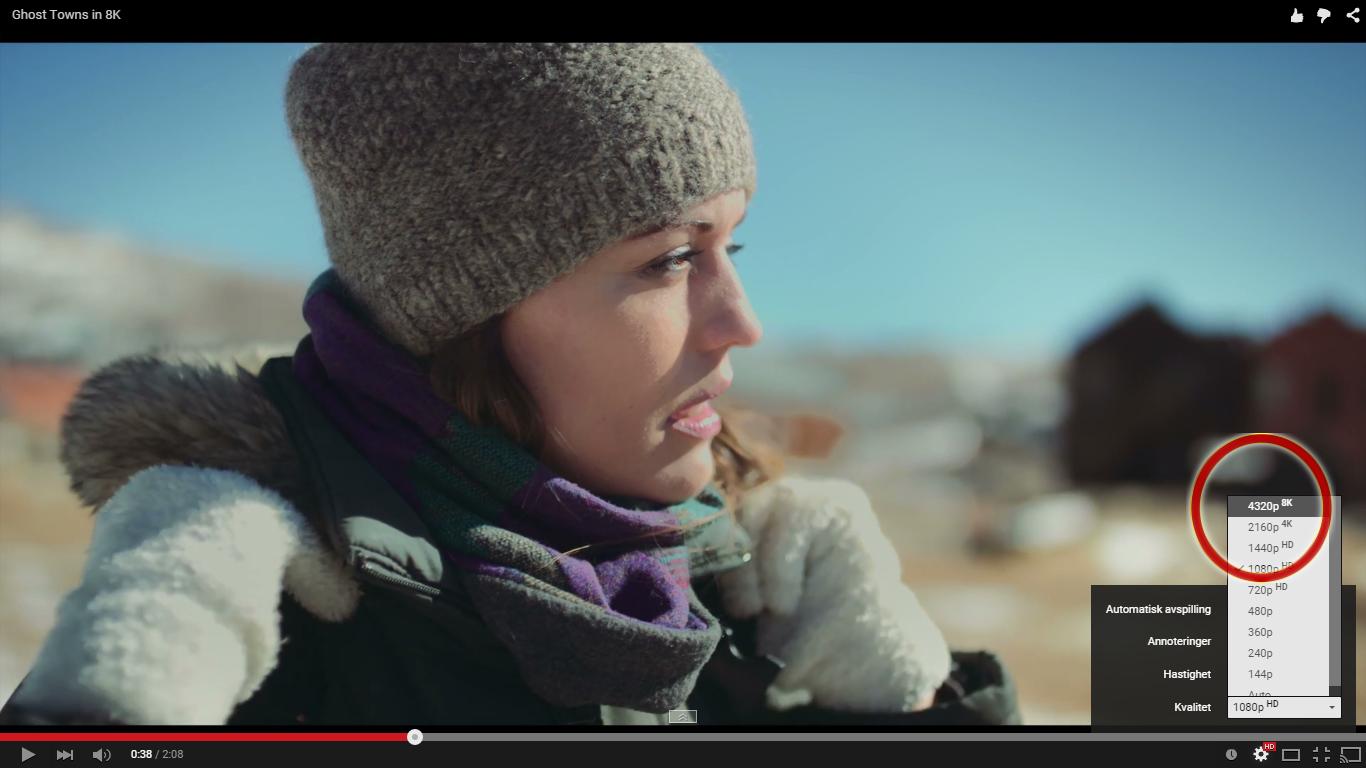 YouTube byr nå på videoer i 8K-oppløsning