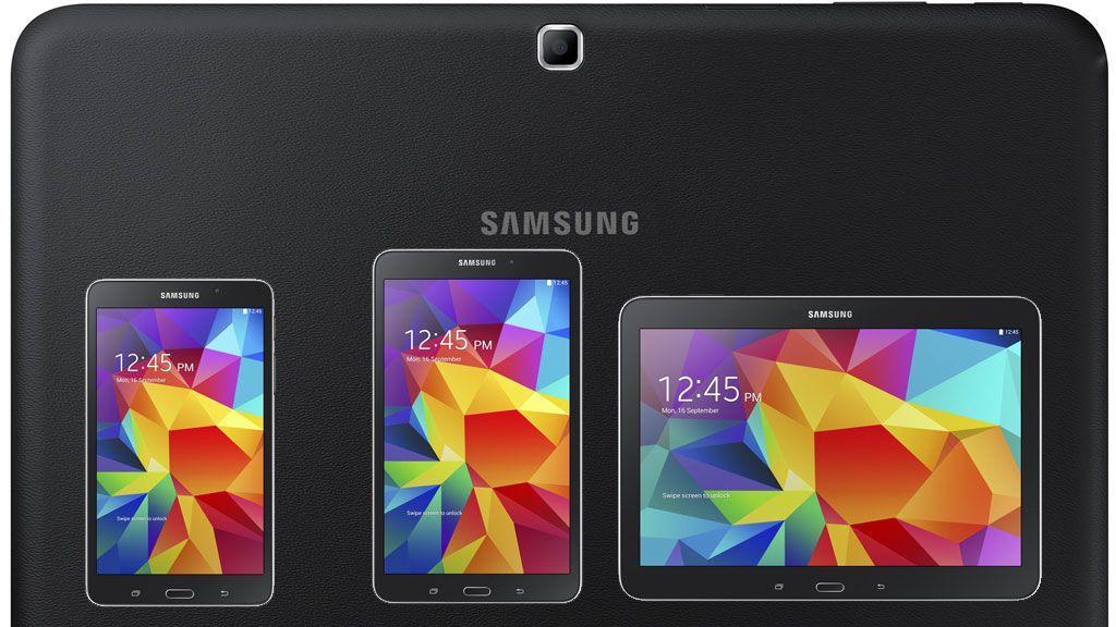 Tab 4 kommer i to varianter med 10,1 tommer skjerm.Foto: Samsung