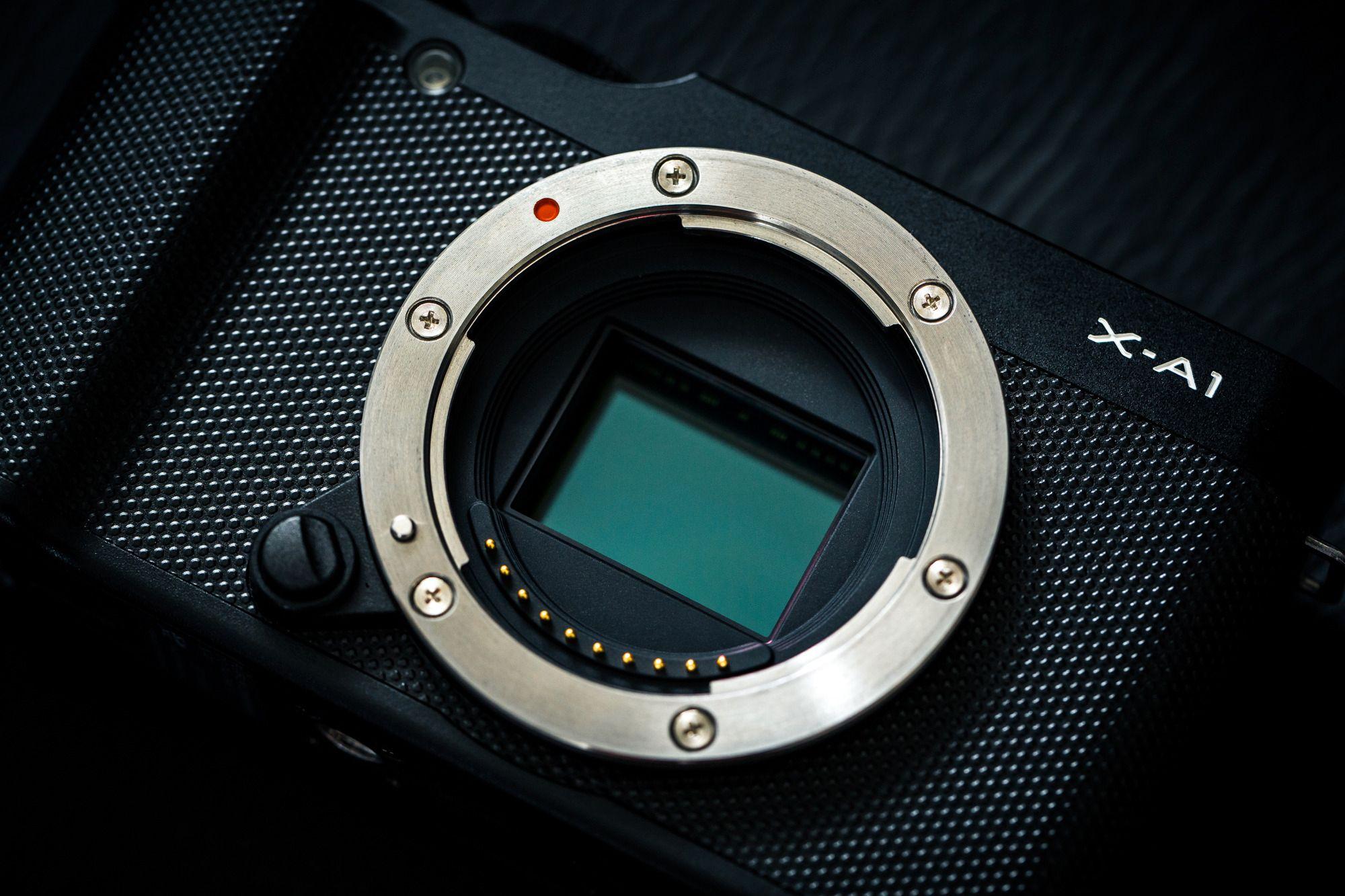 X-A1s CMOS-sensor. (Foto: Johannes Granseth)