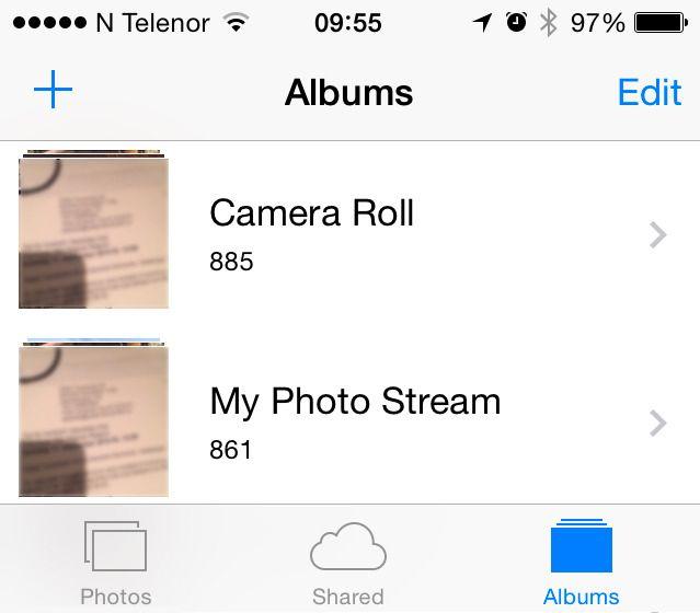 Gå til «album», og slett bildene dine fra både kamerarullen og iCloud-bildestrømmen. .