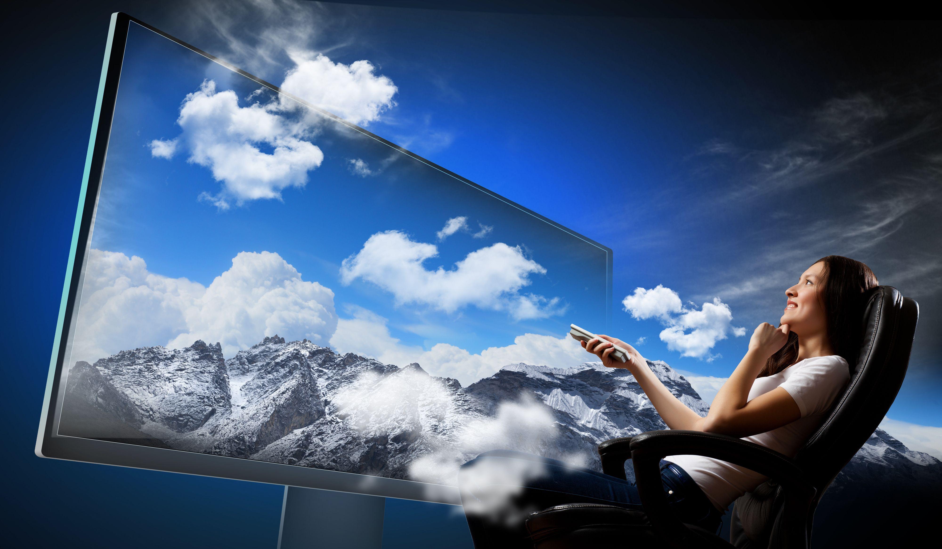 Med 4K-oppløsning kan du ha enda større TV.Foto: Shutterstock