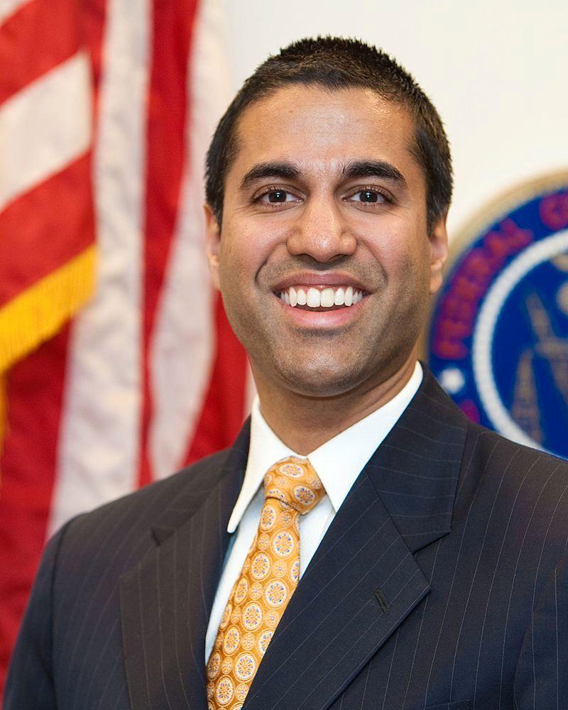 FCC, under ledelse av Ajit Pai, opphevet nylig nettnøytralitetsreglene. Bilde: Wikipedia