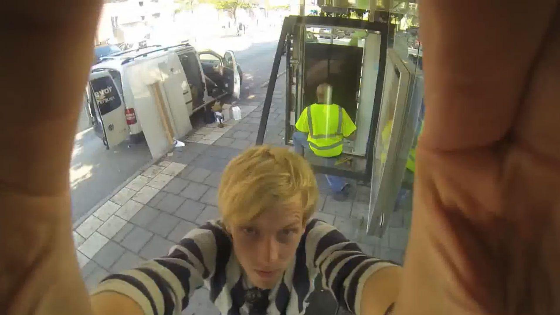 Photoshoppet svensker på gata