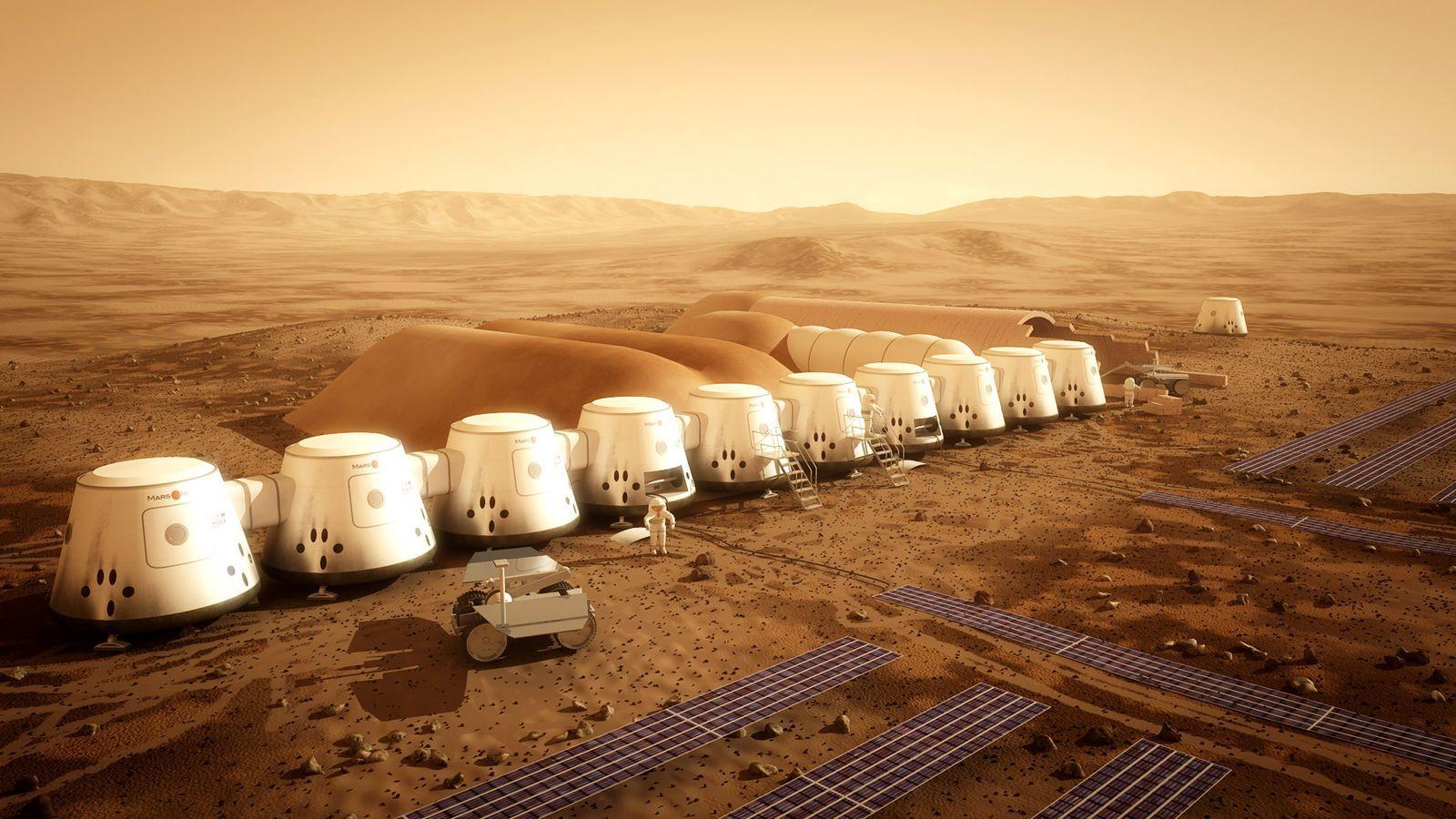 Slik skal kolonien se ut.Foto: Mars One