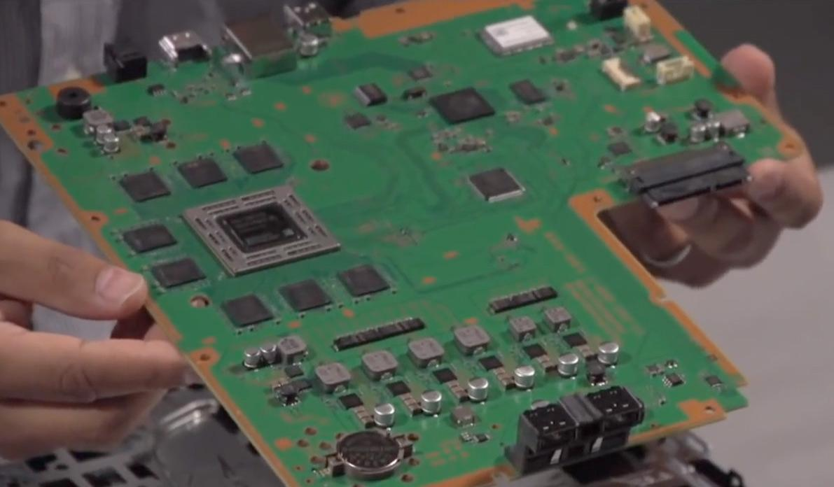 Playstation 4 sitt hovedkort.Foto: Wired