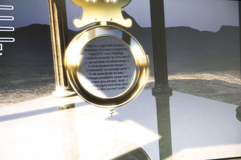Ser du på teksten i dette bildet, er det en illustrasjon på glorie-effekten som kommer rundt objekter i bevegelse. Kamera har fanget dette bildet med en lukkertid på 1/200 av et sekund.Foto: Jørgen Elton Nilsen, Hardware.no