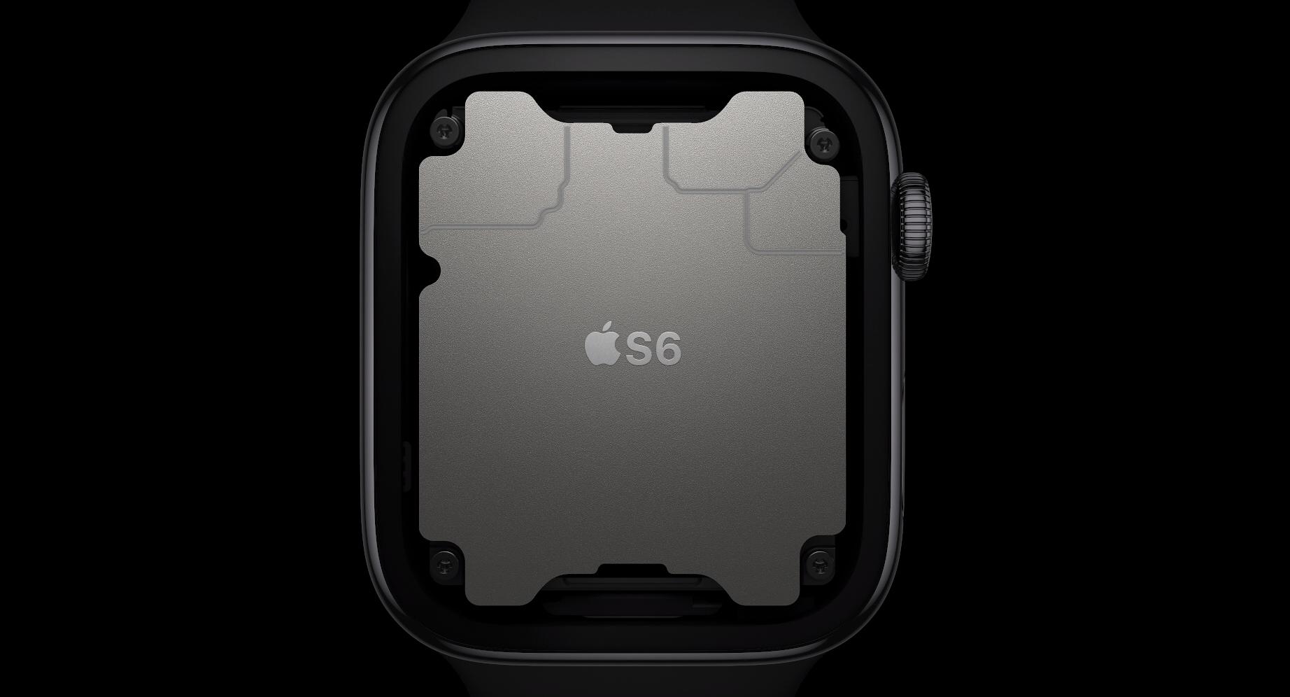 Ny og raskere prosessor i Apple Watch Series 6.