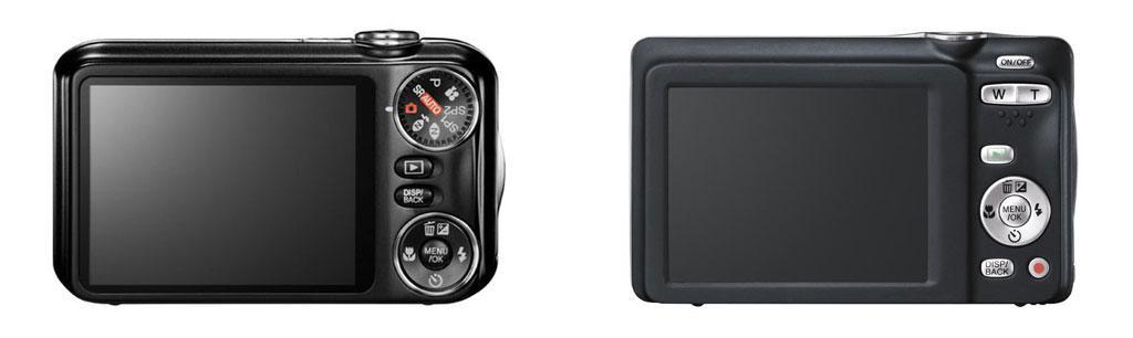 Fujifilms nye kontroller, her ved JX350 og JX500. Gammel versjon til venstre og ny versjon til høyre.