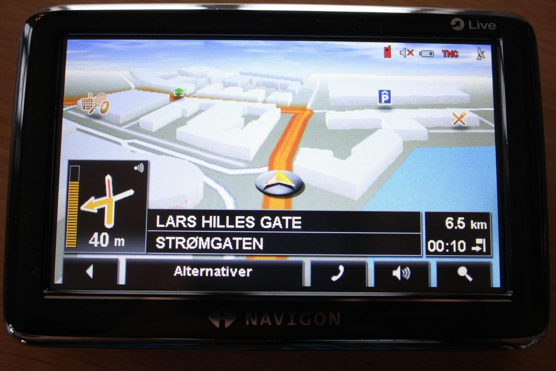 Rutene vises på en oversiktlig måte når du navigerer.