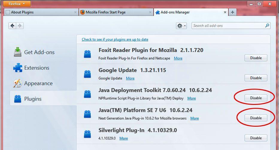 Du er nødt til å deaktivere Java Tek.no