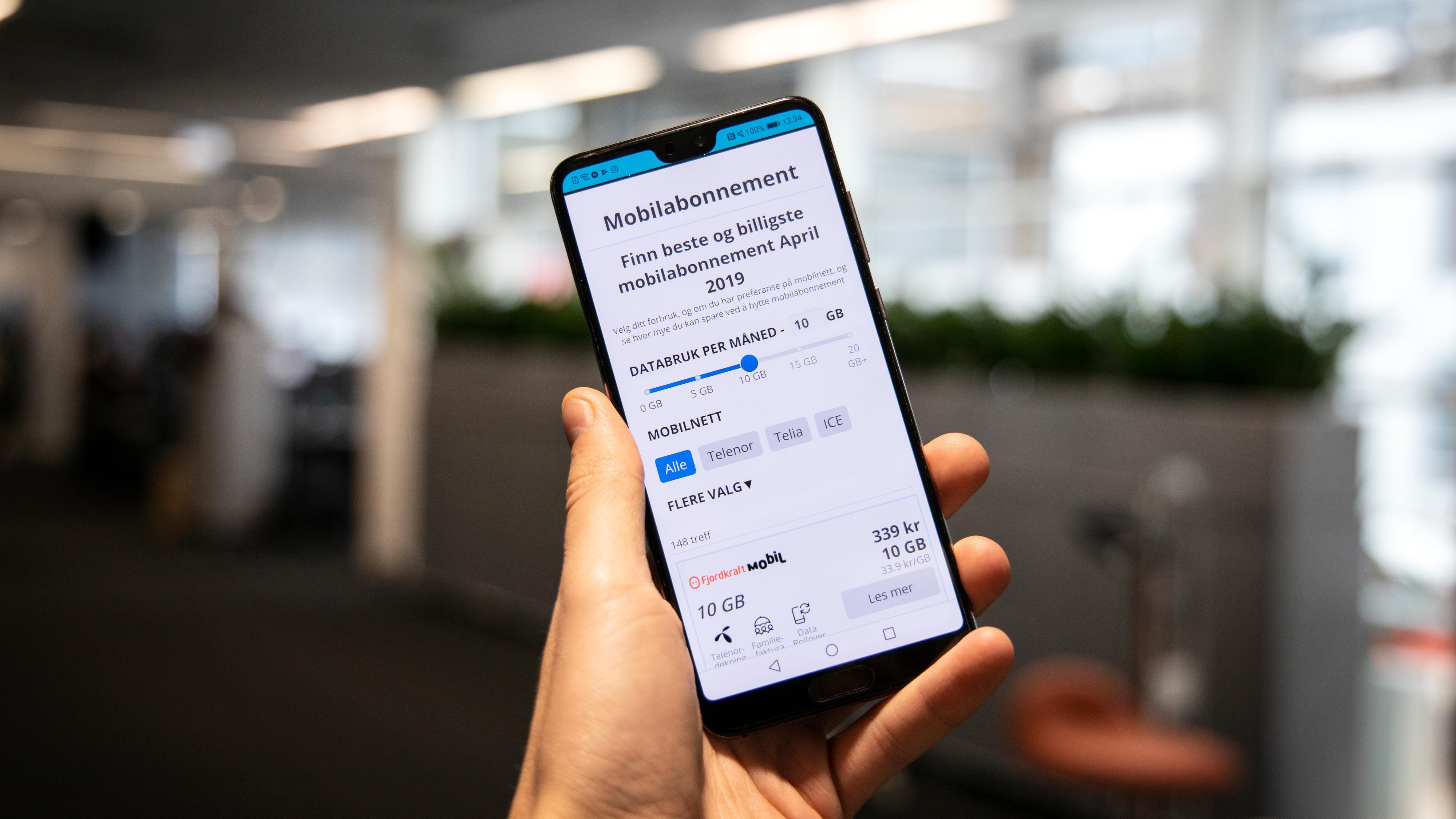 Beste mobilabonnement - vår 2019