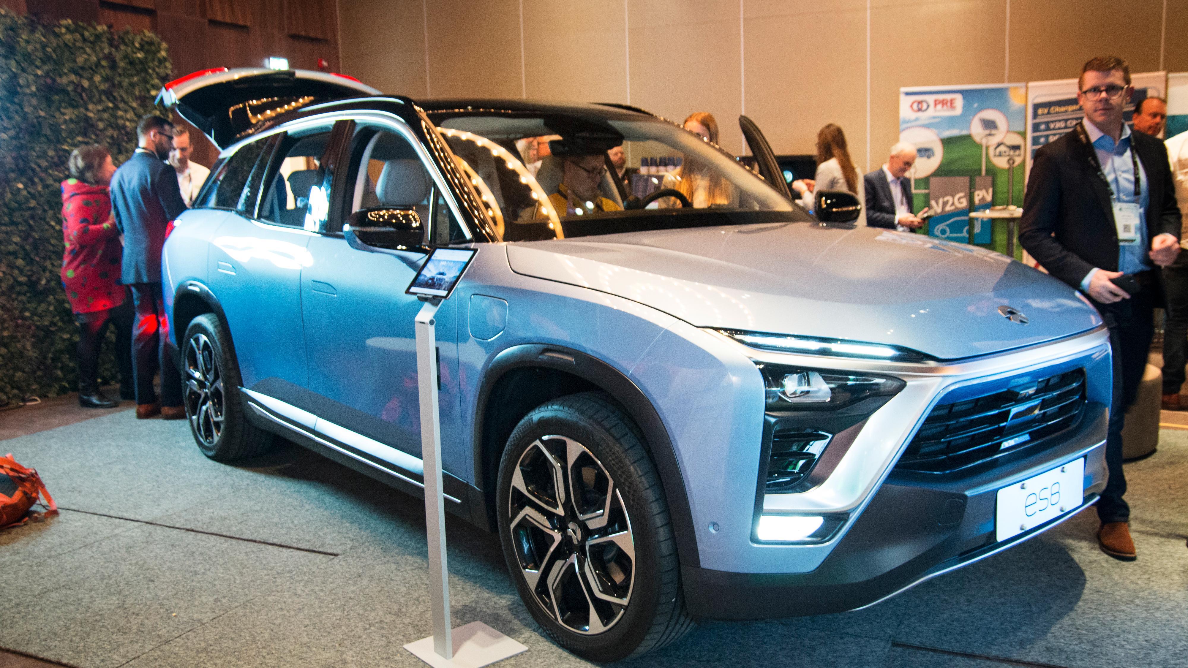 SUV-en ES8 vil være først ut i Norge. Her fra Nordic EV Summit-konferansen i 2019.