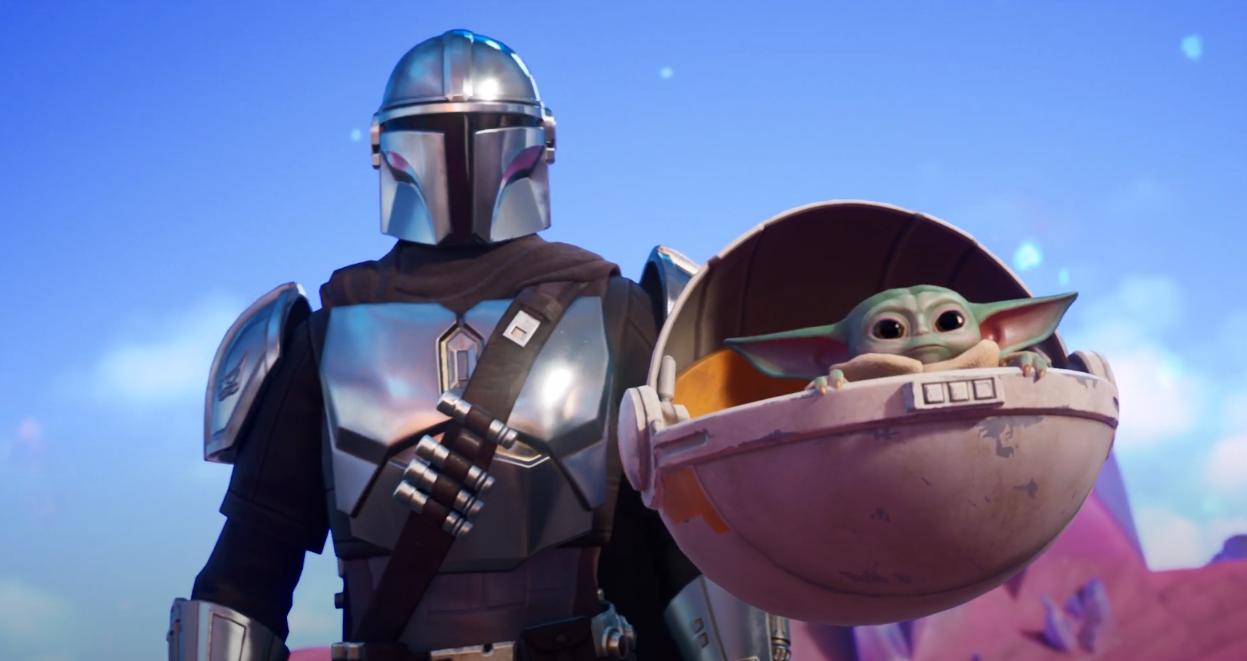 Baby Yoda er på plass i Fortnite.