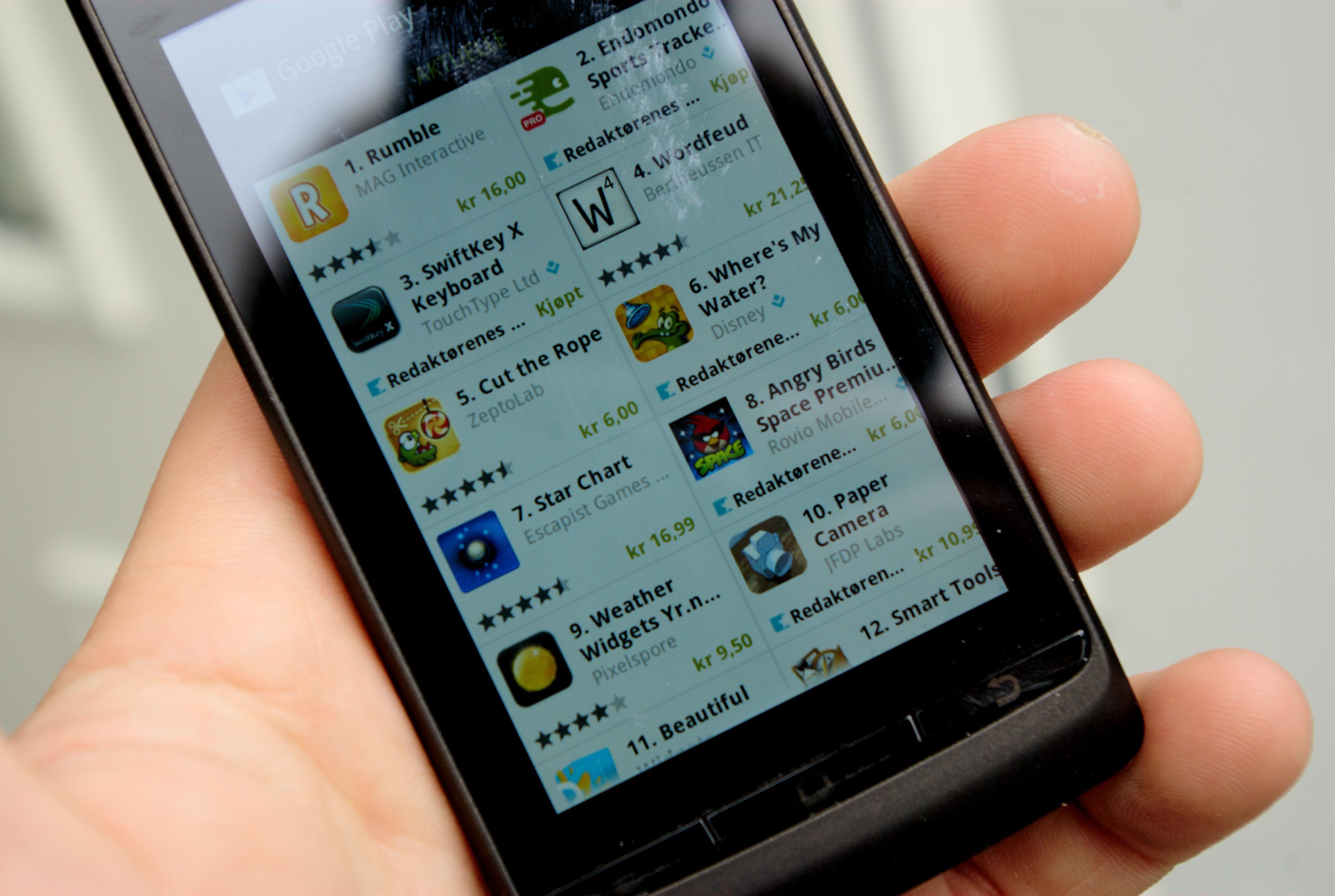 I Android Market finner du mye moro.Foto: Einar Eriksen