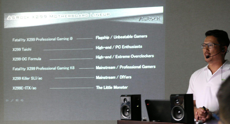 ASRocks James Lee forteller om hvordan de forskjellige kortene sikter mot forskjellige segmenter.