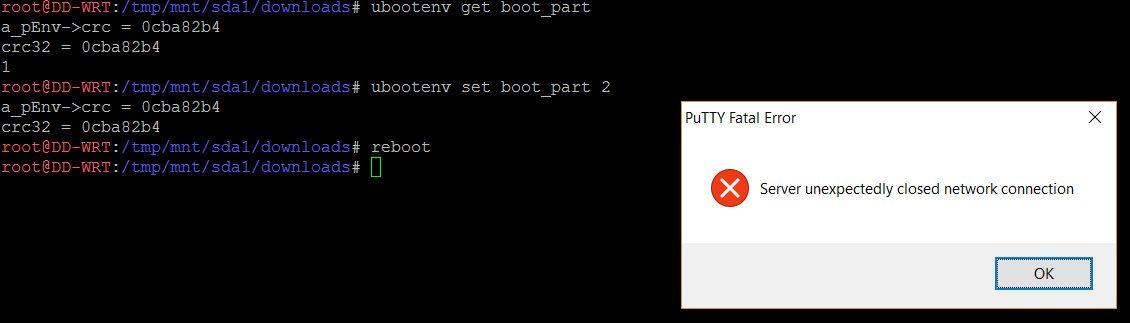 Finn først ut av hvilken partisjon det er du bruker, og be ruteren om å bruke den motsatte, før du beordrer en reboot. Har du ikke tuklet så altfor mye med den ligger originalprogramvaren der fortsatt. Bilde: Finn Jarle Kvalheim, Tek.no