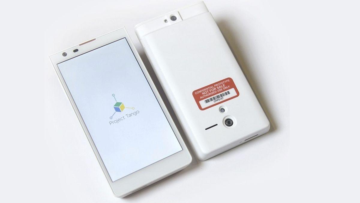 En prototyp av Project Tango på mobil.Foto: Google