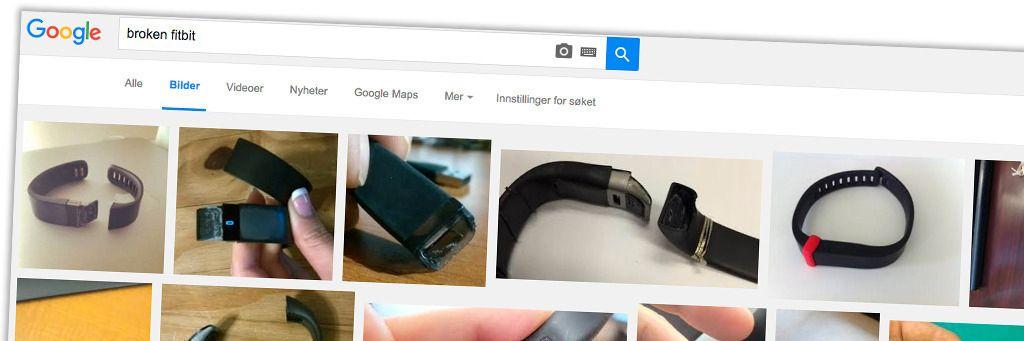 Et søk på «broken fitbit» gir temmelig mange treff på Google.