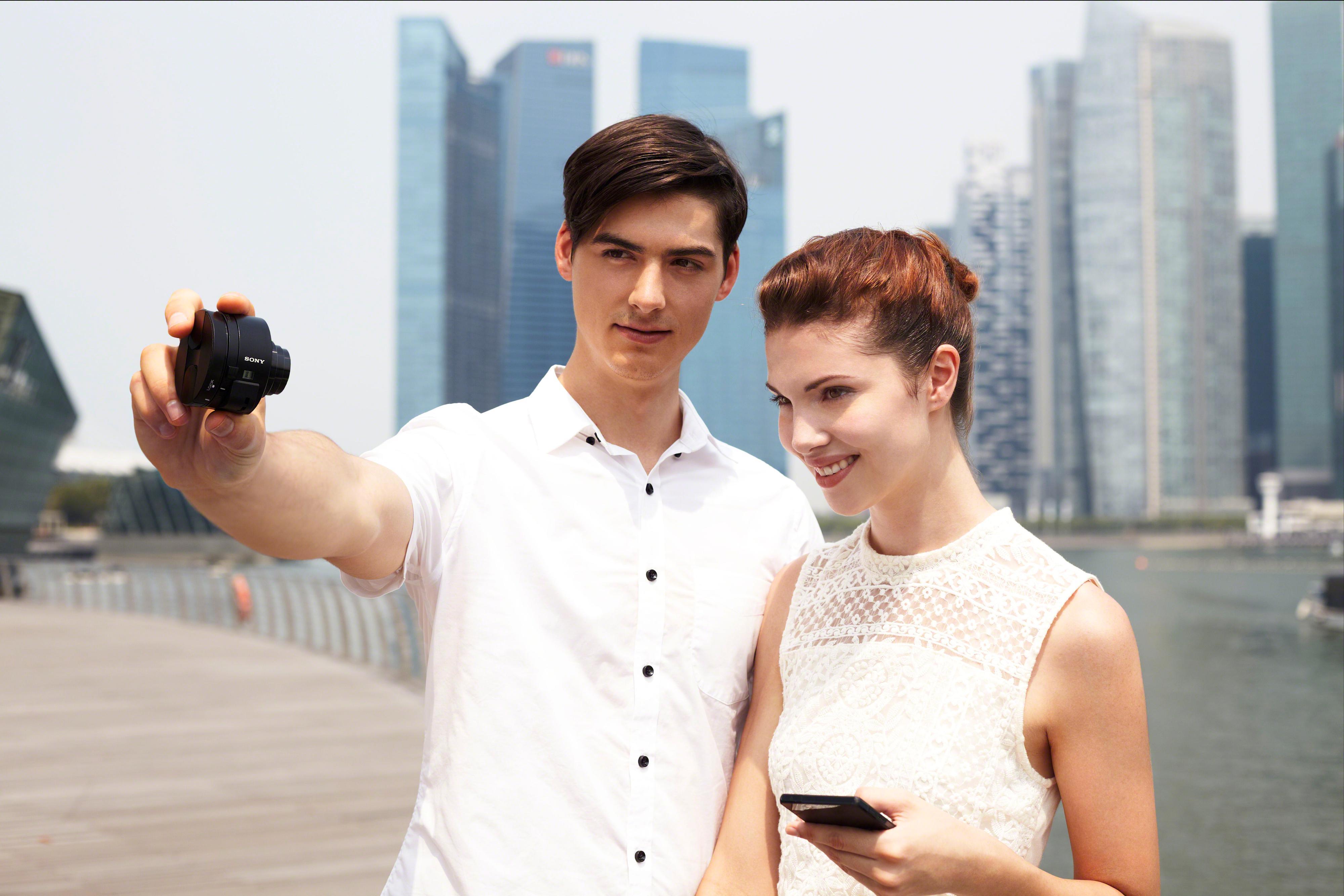 Selfies på et helt nytt vis.Foto: Sony