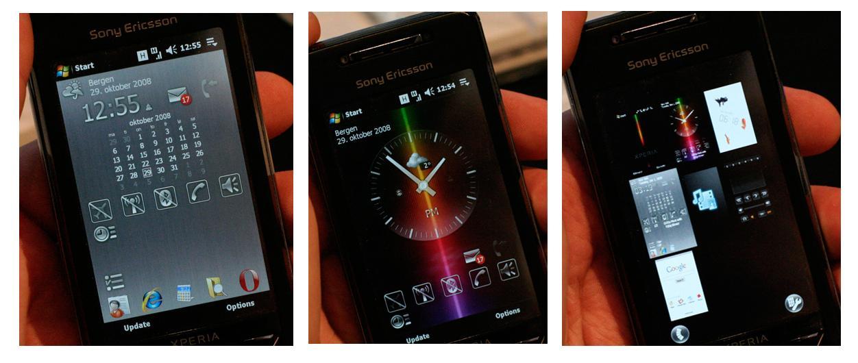 Sony Ericssons panelløsning.