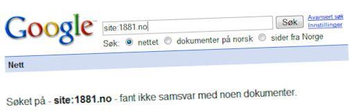 Norsk nettsted fjernet fra Google