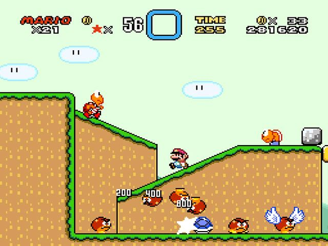 Klassikeren Super Mario World i sving på Snes9x-emulatoren. Foto: Nintendo