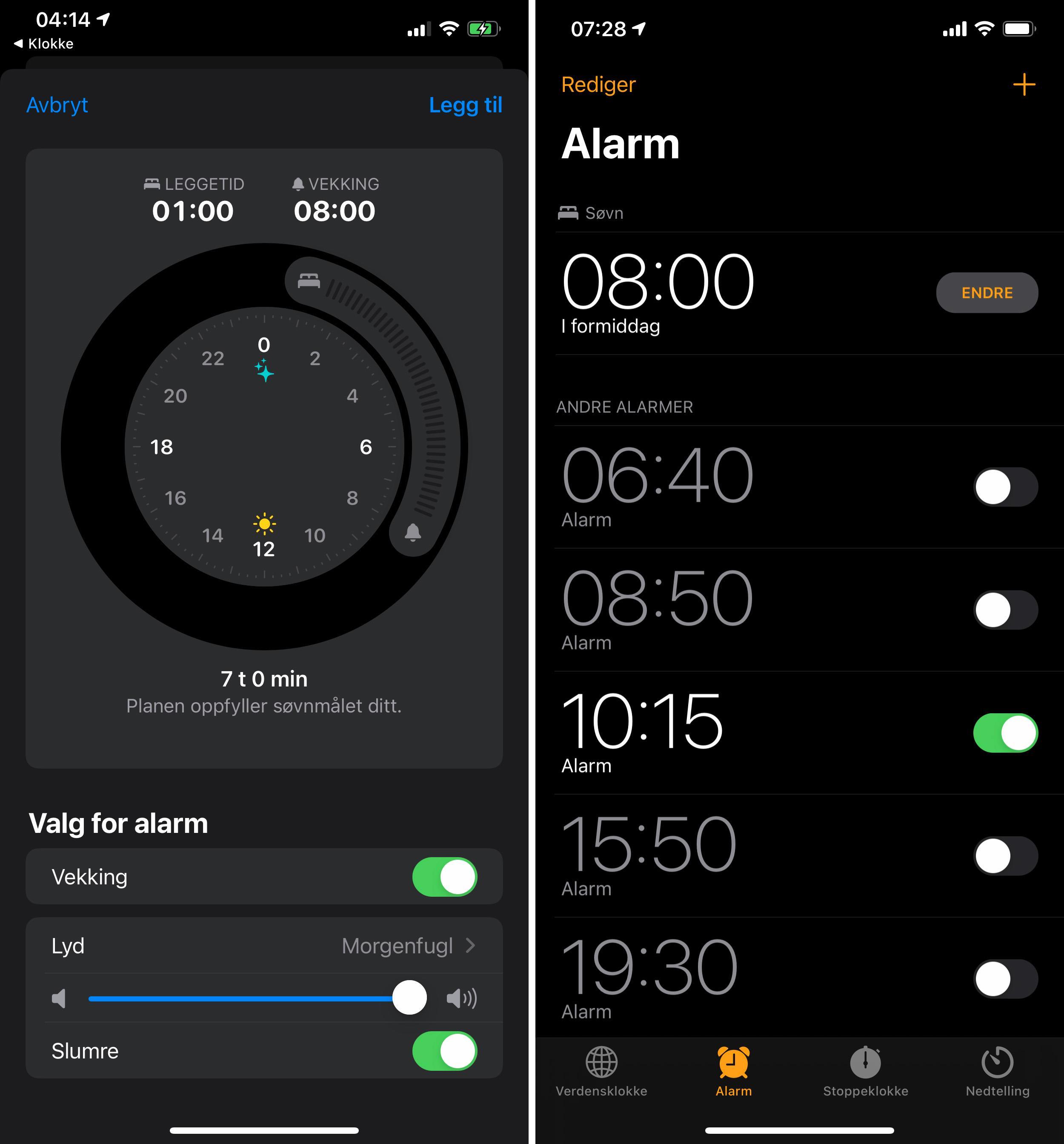 iOS 14 skal hjelpe til med søvnen også. En egen hjelper skal prøve å dytte deg til sengs på kveldene, og telefonen kvitterer med «Sov godt» på låseskjermen i perioden du regner med å skulle sove.