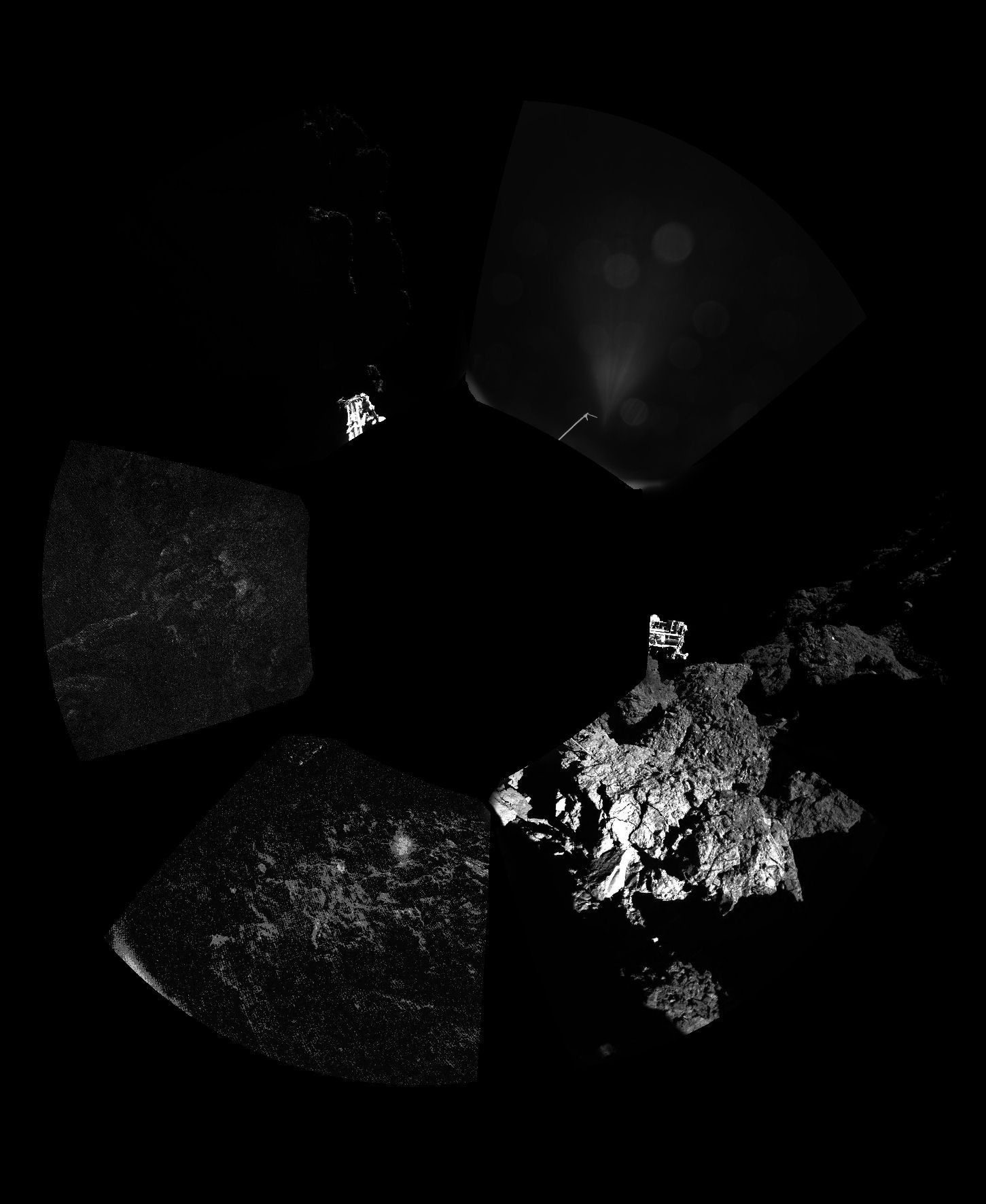 Dette er hele panoramabildet.Foto: ESA