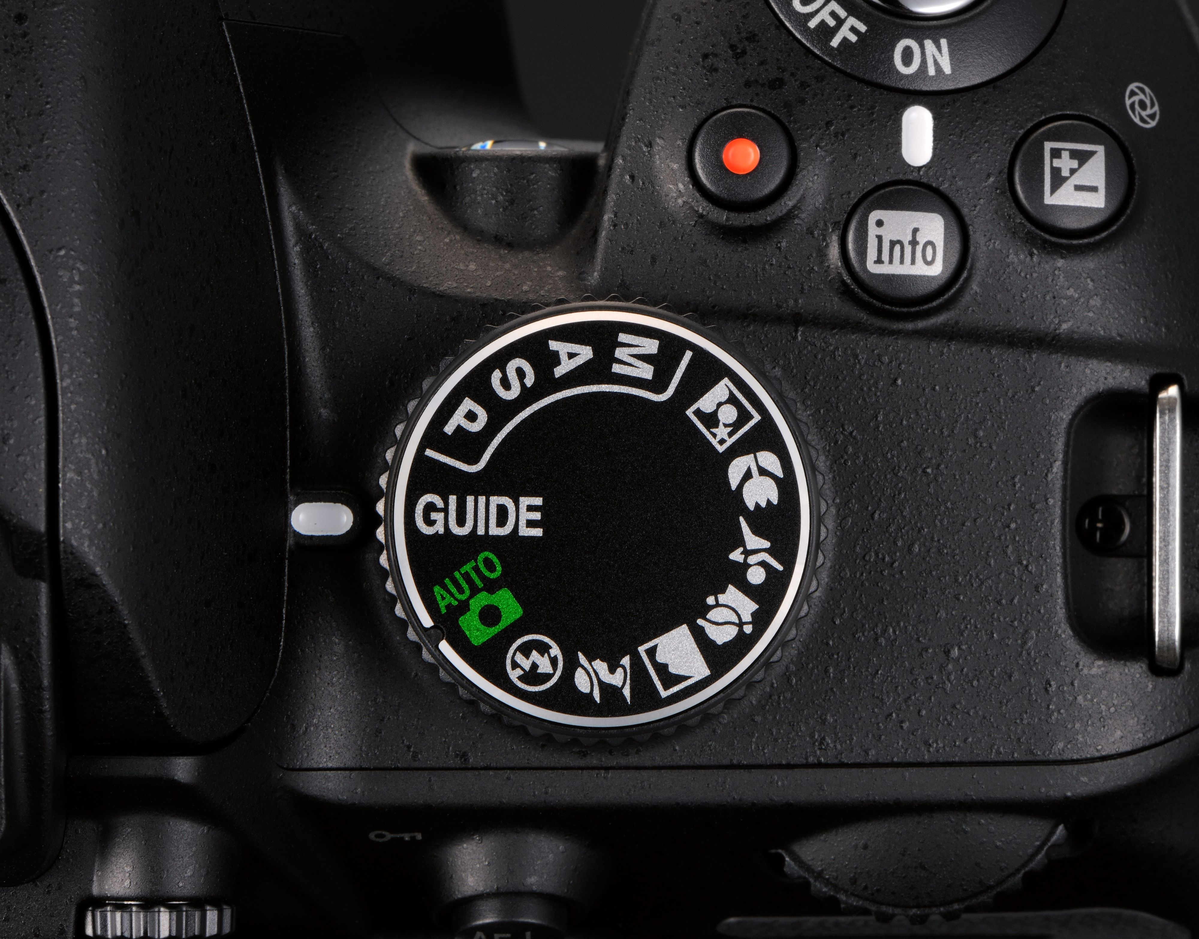 Programhjulet til Nikon D3200.