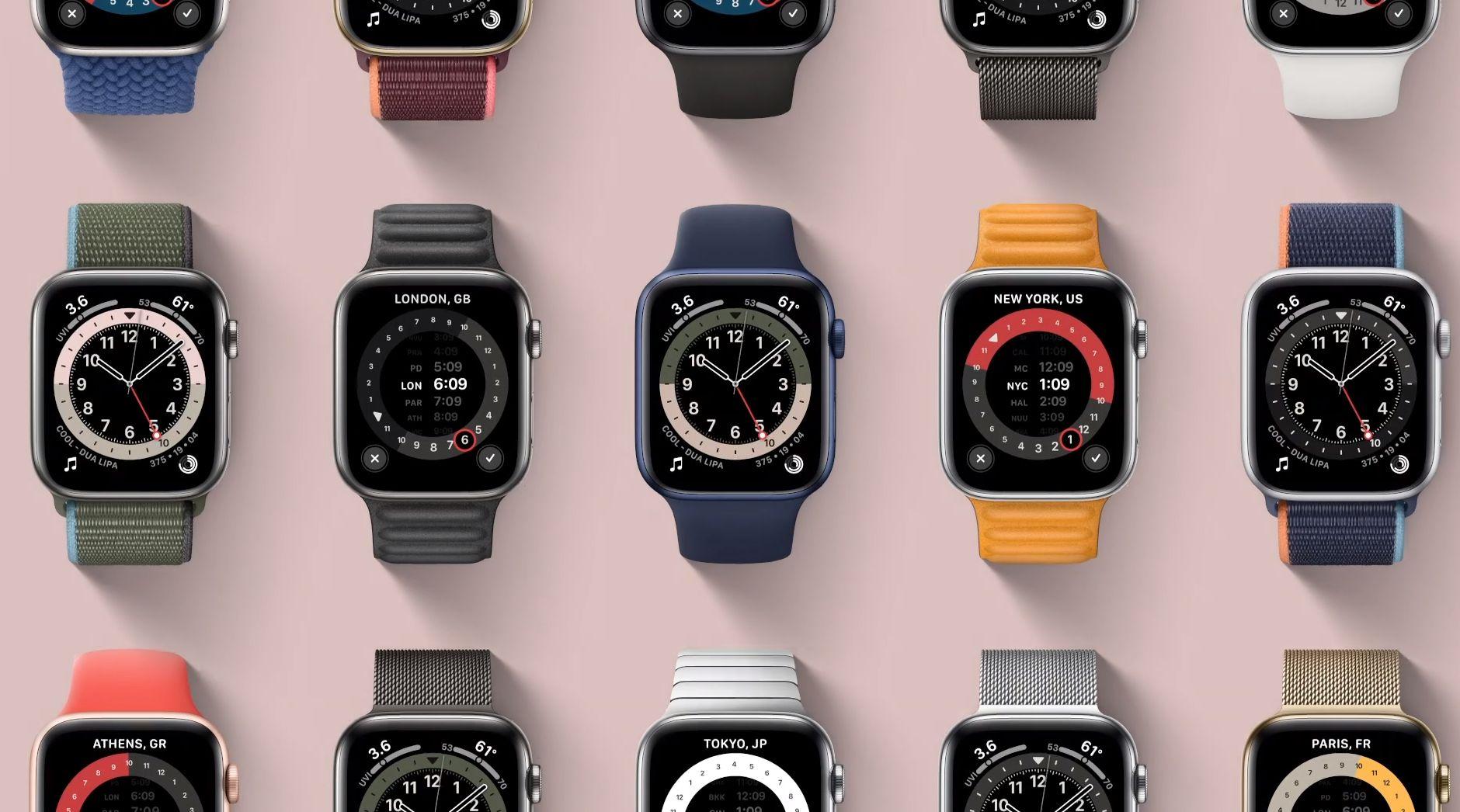 Apple Watch series 6 har fått en ny oksygenmetningssensor under seg, og mye lysere skjerm når den alltid står på.