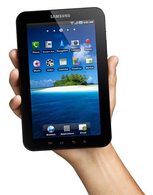 Samsung fulgte raskt på med Android-baserte Galaxy Tab.