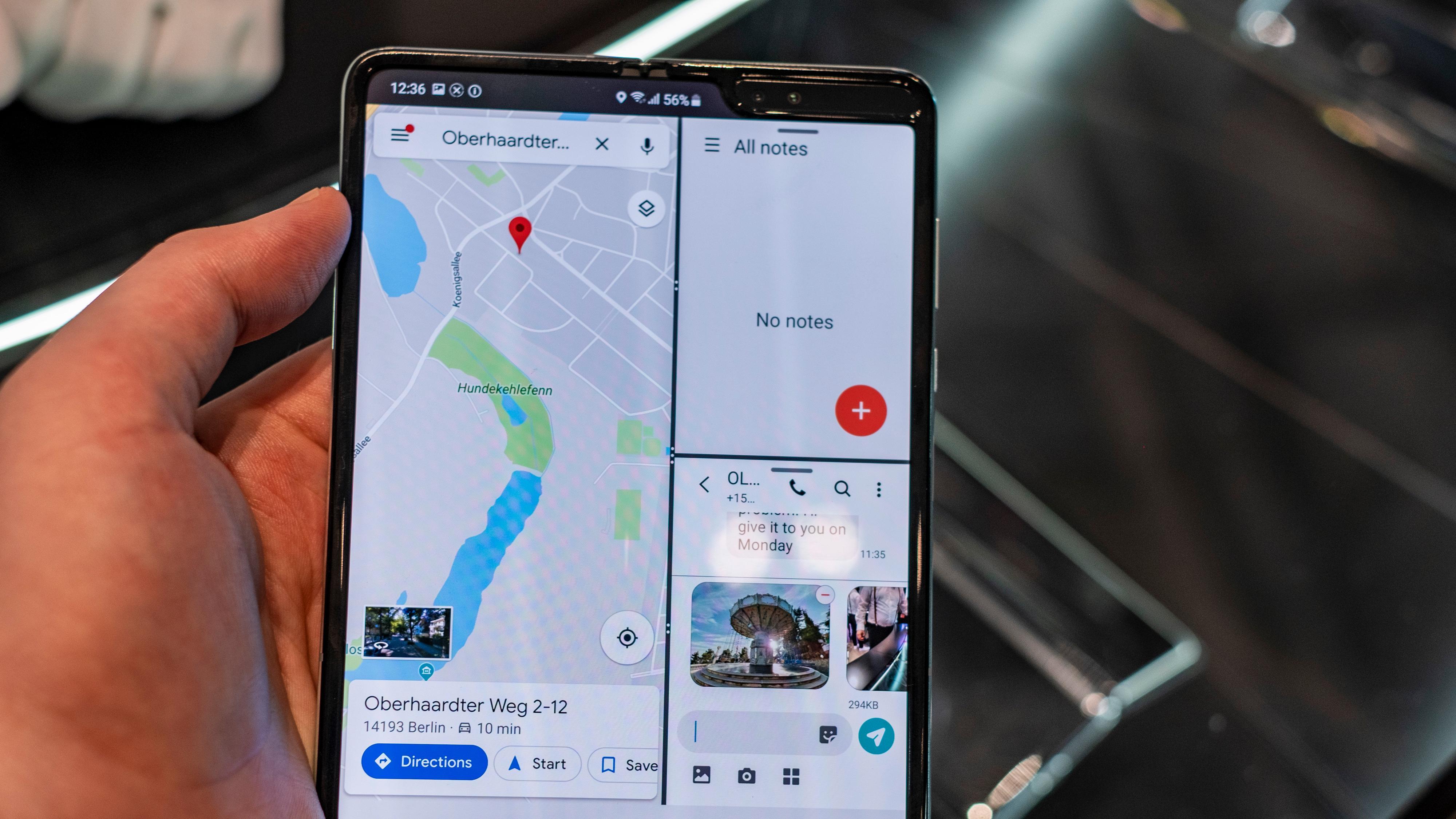 Måten appene fordeler seg på skjermen minner en del om måten Apple har løst det i iPad Pro. Det hele er intuitivt og fungerer bra.