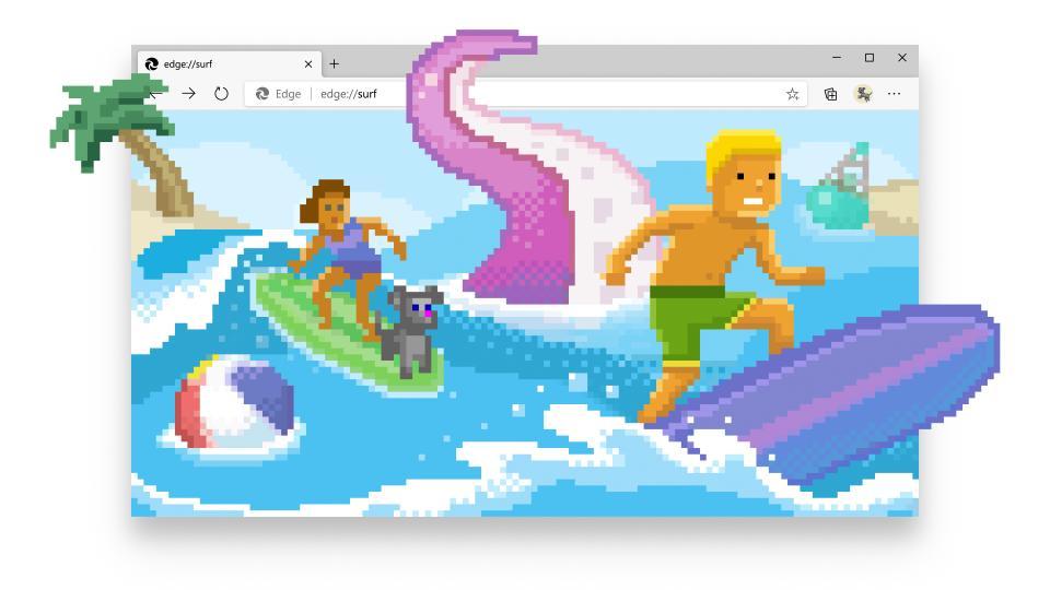 Microsoft Edge lar deg spille surfespill hvis nettet går ned