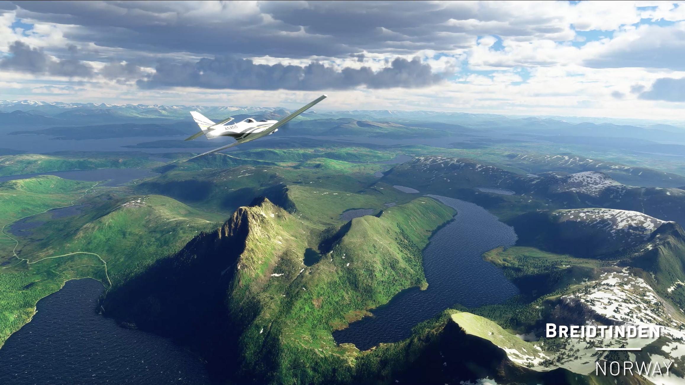 Med hjelp fra geologer melder Microsoft at Norges terreng i Flight Simulator er nøyaktig representert ned til en meter.