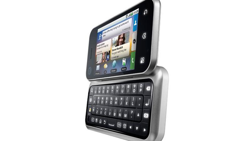 Motorola Backflip med fulltastatur på baksiden