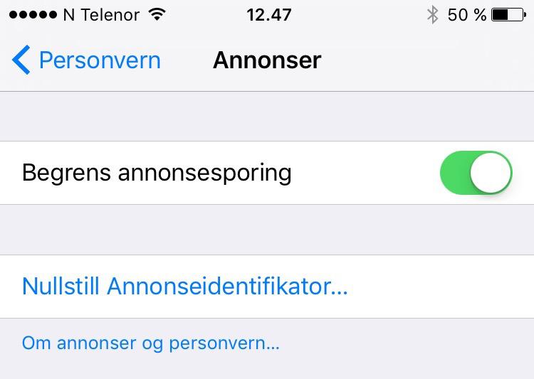 Personvern i iOS Guide Tek.no