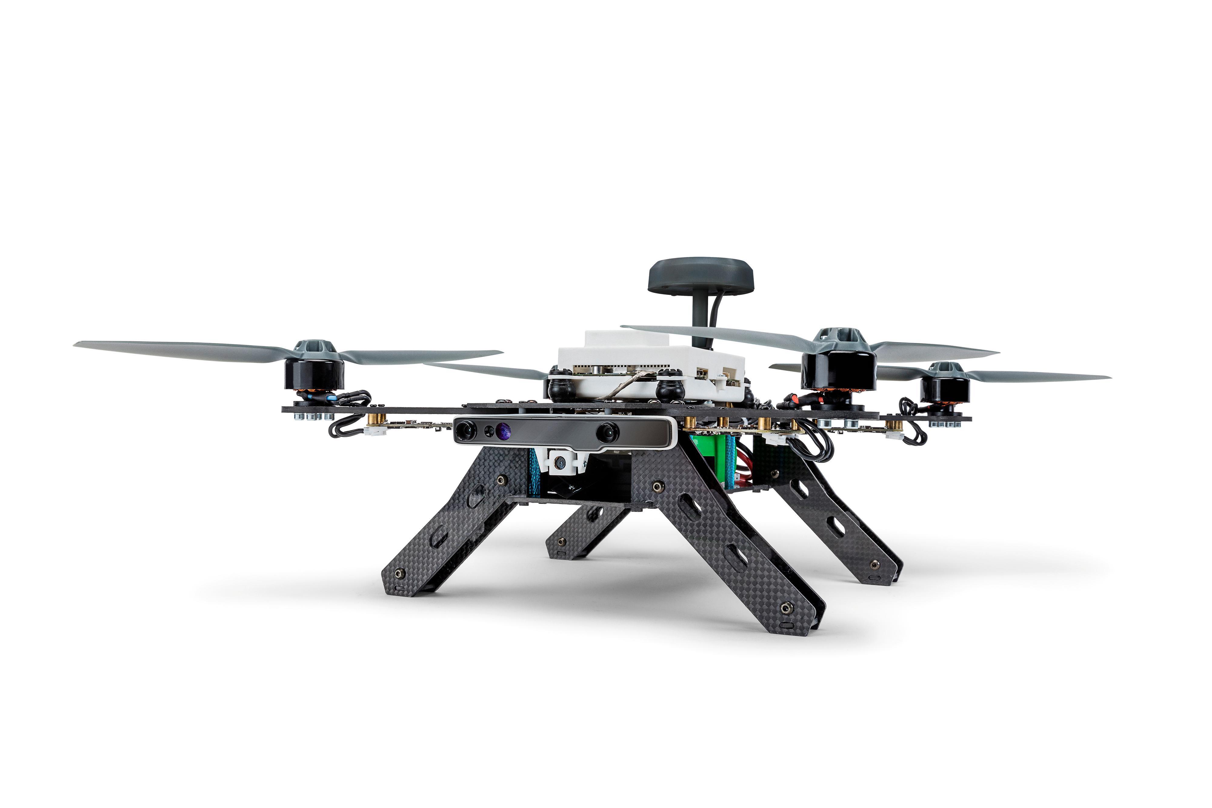 Slik ser dronen ut på nært hold.