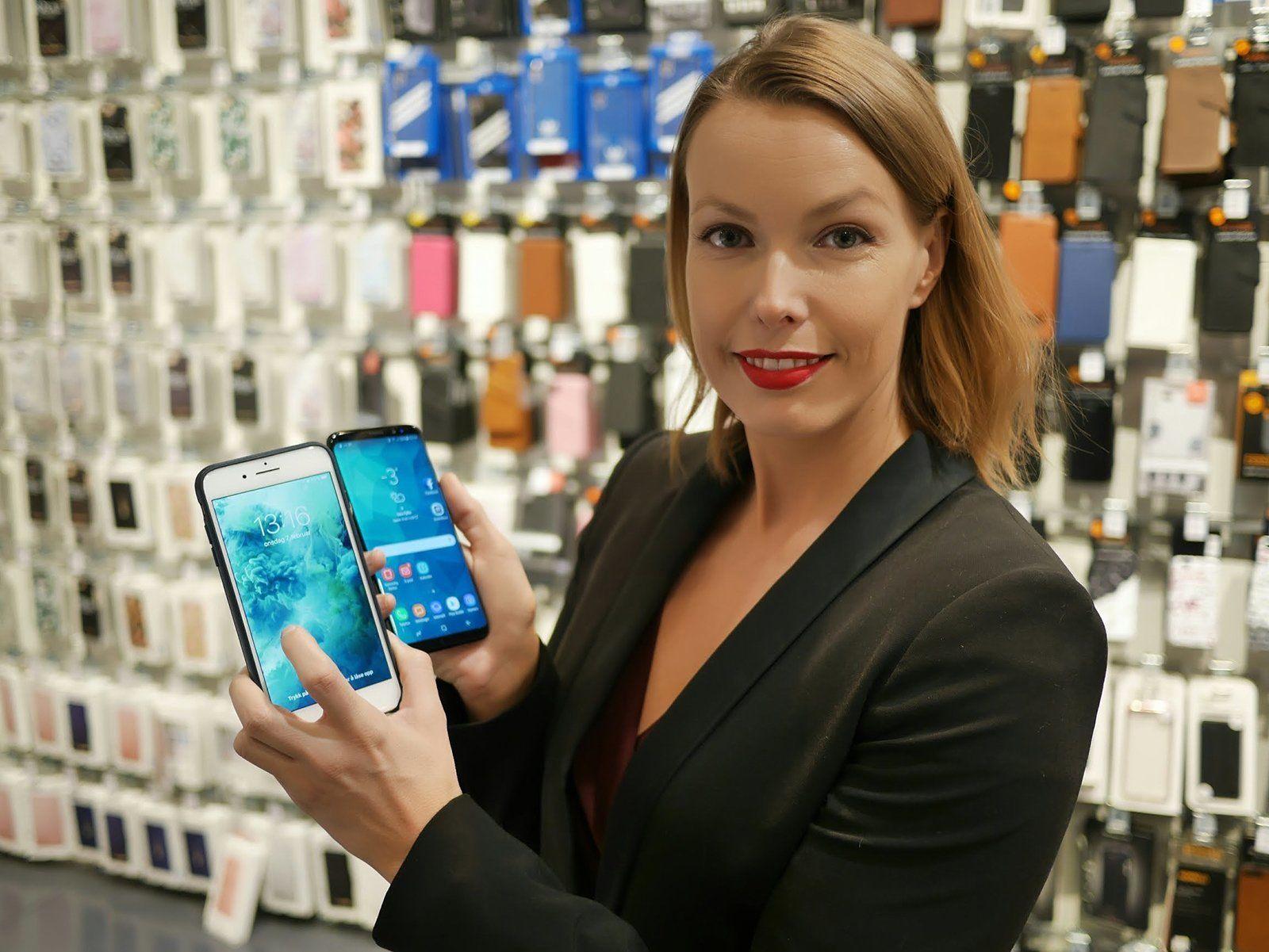 Mobiltelefoner er høyt oppe på noen kvinners ønskeliste, sier kommunikasjonssjef i Stiftelsen Elektronikkbransjen, Marte Ottemo.
