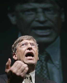 En mektig mann med et mektig presentasjonsprogram med en mektig svakhet, mennesket.