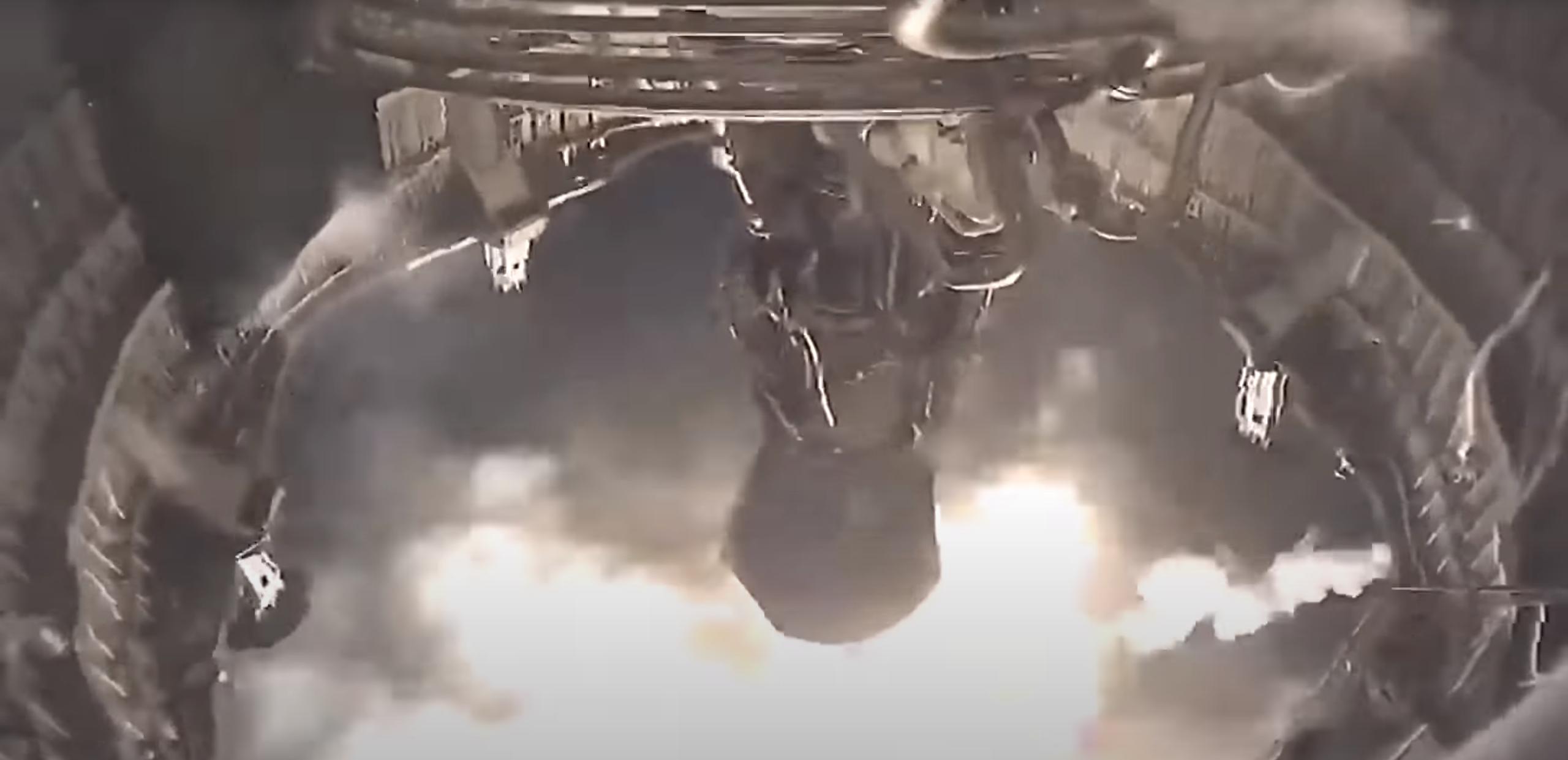 Slik ser det ut inne ved rakettmotoren.