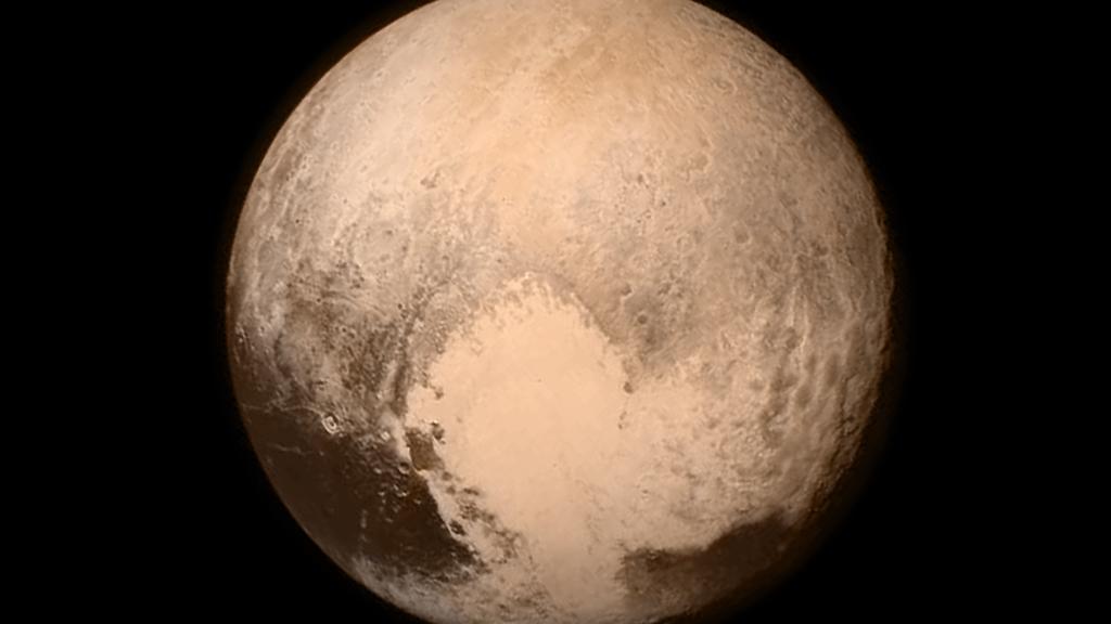Dette er et historisk nærbilde av Pluto
