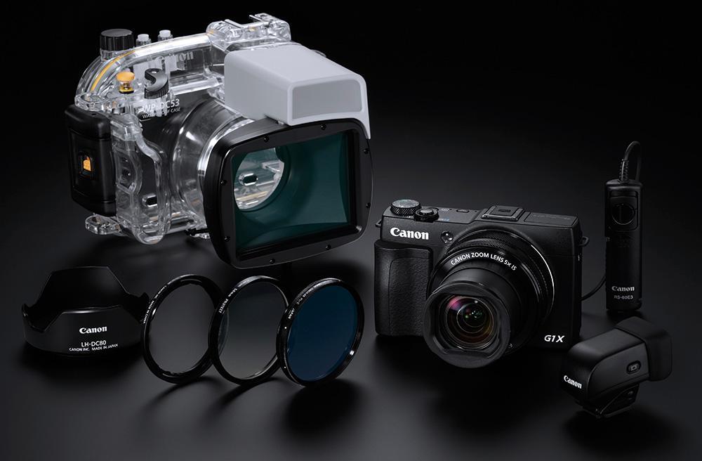 Canon G1 X Mk II med tilleggsutstyr