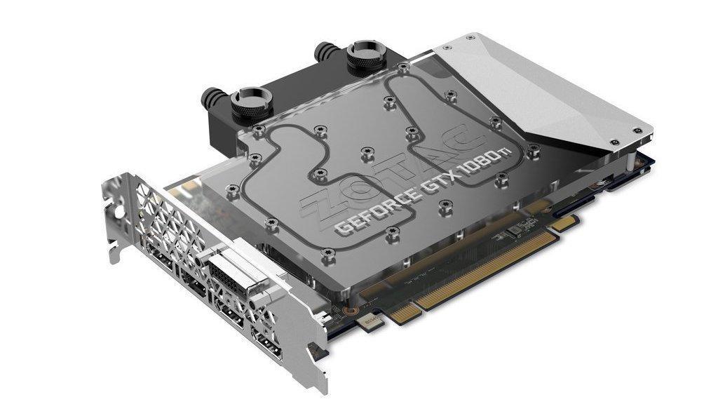 Zotac slipper superkompakt GTX 1080 Ti-kort for vannkjølte PC-er